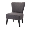 Woodrow Accent Chair, Black and Dark Gray