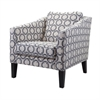 Hewett Club Chair, Black, Gray, White