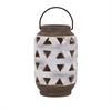 Xixa Large Cutout Lantern, White, light brown