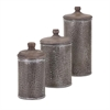 Brampton Lidded Canisters, Taupe, Set Of 3