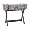 Marvelous Margie Trunk Console Table, Gray and White