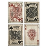 97028-4, Leonato Playing Card Wall Decor, Set of 4