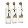 Set of 3 Riveting Magdaline Inspirational Glass Bottles