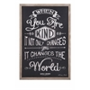 Meaningful Kindness Changes the World Wall Decor, Black & White