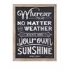 Unique Sunshine Wall Decor, Black & White