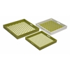 Elegant Essentials Graphic Green Apple Trays, Shades Of Green, Set Of 3