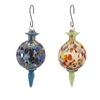 Aviary Glass Bird Feeders - Ast 2, Multicolor