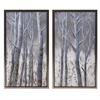 Frosted Framed Oil Painting on Metal - Ast 2, Multicolor