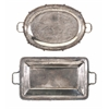 Fantastic Poppy Stainless Steel Serving Trays - Assorted 2, Silver
