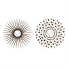 Harper Sunburst Mirrors - Ast 2, Bronze