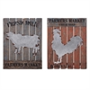 Farm Fresh Wall Decor - Ast 2, Multicolor