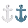 Anchor Ceramic Wall Decor - Ast 2, White & Sky Blue