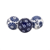 Hilary Spheres - Ast 3, Navy Blue & White