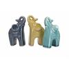 Fantastic Barinas Elephant Statuaries - Ast 3, Light blue