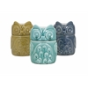 Incredible Bristol Owl Canisters - Ast 3, Light blue