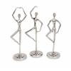 Sleek Zabrina Dancing Statuaries - Ast 3, Silver