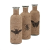 Jute Accent Bottles - Ast 3, Beige & Brown