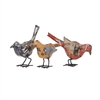 Reclaimed Metal Birds - Ast 3, Multicolor
