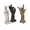 Unique Cohen Ceramic Hands - Ast 3, Silver, black