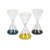 Alluring Lagos Glass Hourglasses Assorted 3, Multicolor