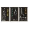 Attractive City Chalk Art Decor - Assorted 3, Multicolor