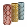 Smart Cydney Ceramic Vases - Assorted 3, White, Red, Yellow