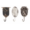 Vintage Burns Metal Animal Wall Hooks - Assorted 3, Antique Brown, White