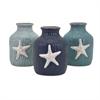 Oceana Starfish Vases- Ast 3, White