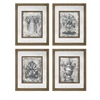 Modish Cordele Mirror Wall Decor - Assorted 4, Light Brown, black
