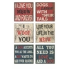 Adorable Dogs Wall Decor - Assorted 6, Multicolored