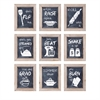 Kitchen Inspirations Wall Decor - Ast 9, Natural wod, Black