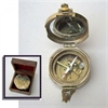 Benzara Brunton Compass Solid Brass  With Wood Box