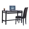 Techni Mobili Matching Desk with Keyboard Panel and Chair Set. Color: Wenge