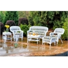 Tortuga Outdoor Portside 6Pc Seating - White - Miranda Terrace Chamomile