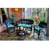 Tortuga Outdoor Portside 4Pc Seating - Dark Roast - Haliwell Caribbean