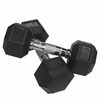 10 lb Rubber Hex Dumbbell (2)