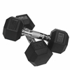 Valor Fitness 15 lb Rubber Hex Dumbbell (2)