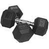 Valor Fitness 25 lb Rubber Hex Dumbbell (2)