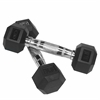 Valor Fitness 3 lb Rubber Hex Dumbbell (2)