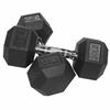 Valor Fitness 30lb Rubber Hex Dumbbell (2)