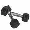Valor Fitness 5 lb Rubber Hex Dumbbell (2)