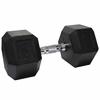Valor Fitness 50lb Rubber Hex Dumbbell (1)