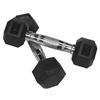 Valor Fitness 8 lb Rubber Hex Dumbbell (2)