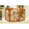 Majestic Universal Free Standing Pet Gate (Wood insert & Cherry Stain)