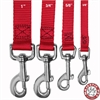 3/4in x 4ft Lead Red By Pet Products
