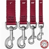 3/4in x 6ft Lead Burgundy By Pet Products