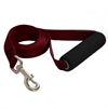 Majestic 1in x 4ft Easy Grip Handle Leash Burgundy By Majestic Pet Products