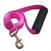 1in x 4ft Easy Grip Handle Leash Pink By Pet Products