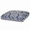 Navy Blue French Quarter Medium Rectangle Pet Bed