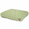 Sage Chevron Medium Rectangle Pet Bed